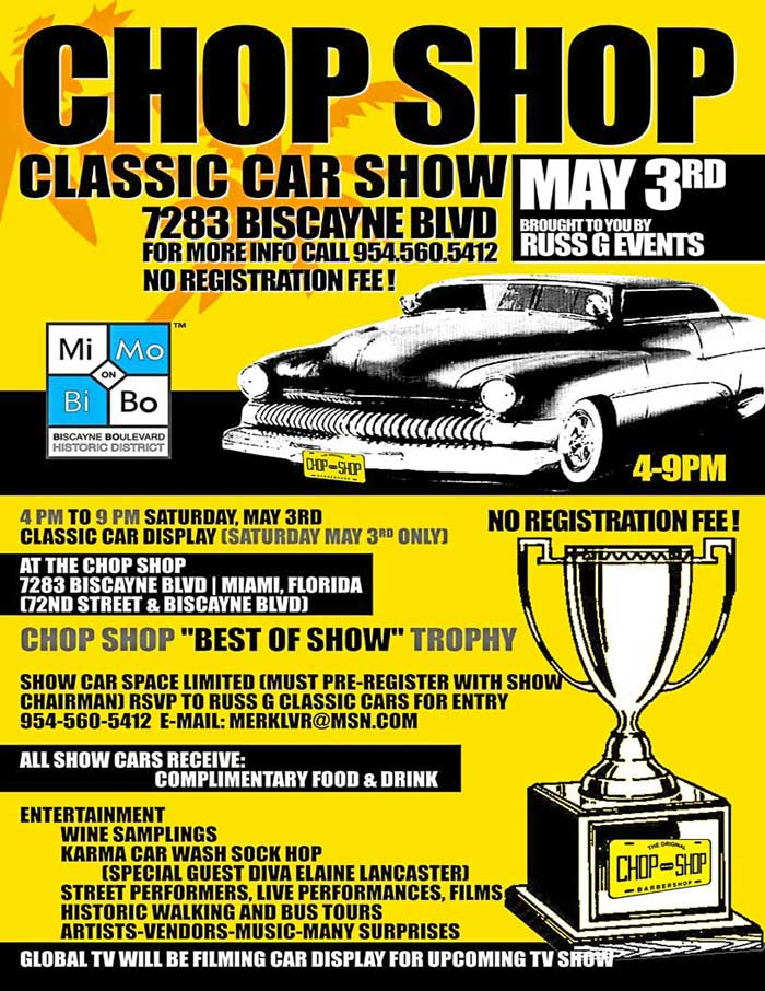 Chop Shop Car Show Miami